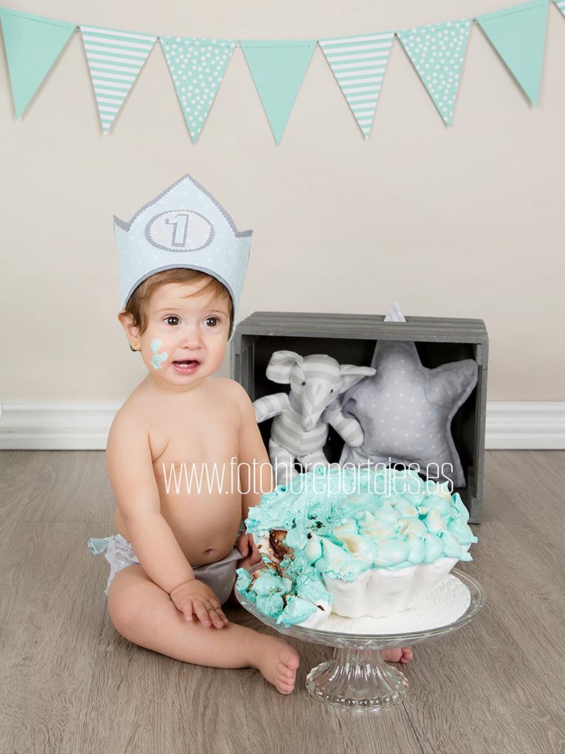 fotografia primer cumple smash cake